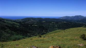 Panorama sul Mar Ligure da Capanne di Marcarolo