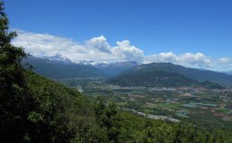 Vista panoramica dal belvedere di S.Grato (Pagno)